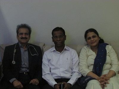 An IPS officer and former Commissioner of Police of Hyderabad with Dr Shashank Shah