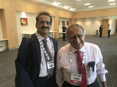 An Austrian-American surgeon and academic with Dr Shashank Shah