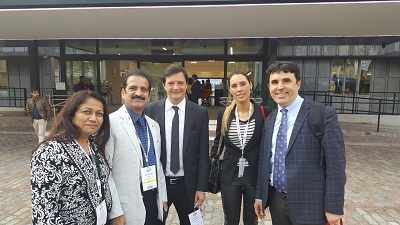 Dr Galvov Neto, Dr Almino Ramos, Dr Poonam Shah and Dr Shashank Shah with Dr Shashank Shah