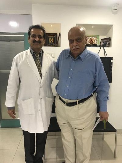 Gangadharrao Patwardhan with Dr Shashank Shah
