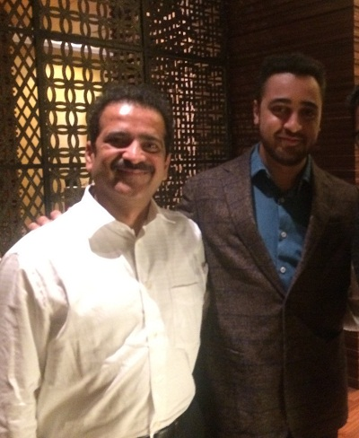Bollywood actor and the nephew of Aaamir Khan with Dr Shashank Shah
