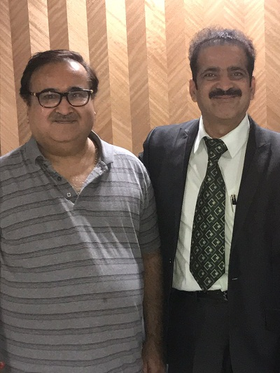 A senior leader of the Bharatiya Janata Party (BJP) with Dr Shashank Shah