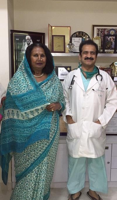 Rajmata Kalpanaraje Bhosale with Dr Shashank Shah