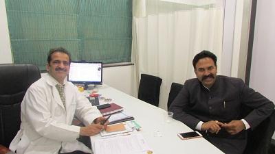 Ranjitsinh Naik Nimbalkar with Dr Shashank Shah