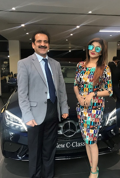 Roshni Kapoor Model, with Dr Shah at a Women's Day Event organised by Mercedes