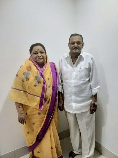 Vilasrao Shinde Ex-MLA and Wife Mangladevi Shinde
